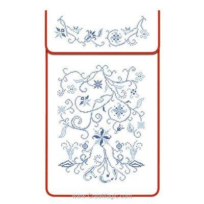 Cache torchon Point de croix sur toile coton blanc à broder en broderie traditionnelle - Luc Création