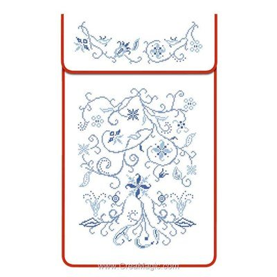 Cache torchon Point de croix sur toile coton ecru à broder en broderie traditionnelle - Luc Création