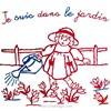Broderie traditionnelle en kit Au Fil De L'Ange je suis dans le jardin - Au Fil De L'Ange