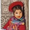Kit point croix de Lanarte à broder fille péruvienne - Lanarte