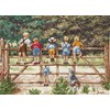 Les enfants sur la barrière kit tableau Anchor point de croix - Anchor