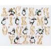 Tableau point de croix abc bécassine - lin - Princesse - Princesse