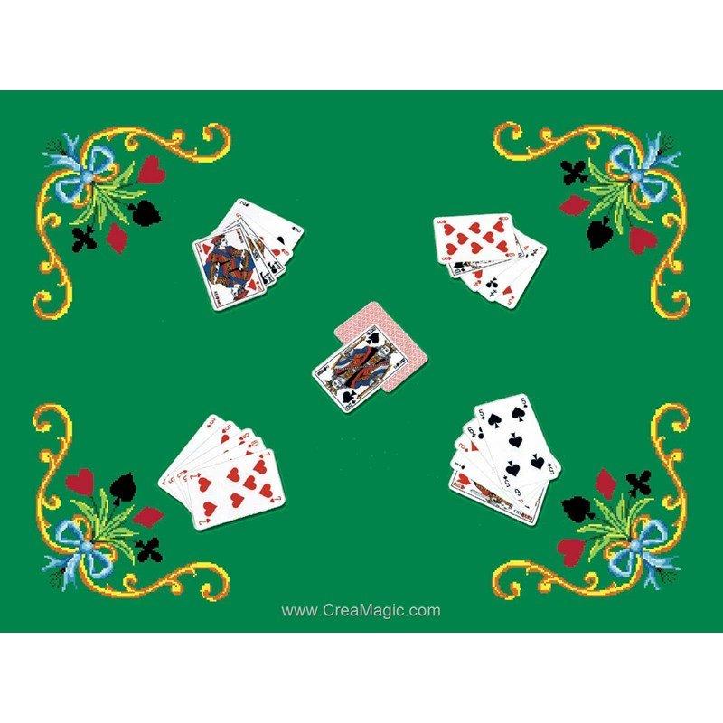 Tapis de jeux joueurs de carte tjf45 supports broder - Jeux de creation de maison ...