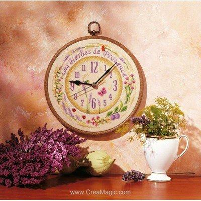 Horloge Herbes de provence - Vervaco