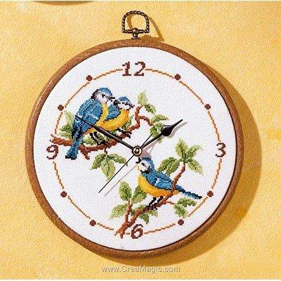 Horloge Mésanges - Vervaco