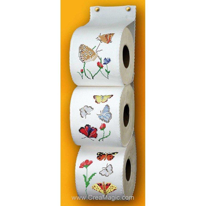 Range papier toilette aux multiples papillons pm354 for Range papier toilette