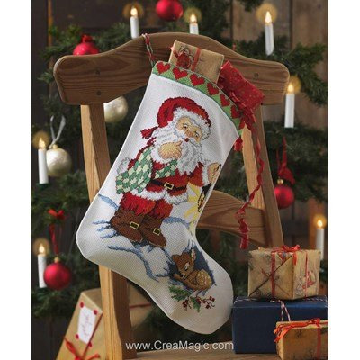 Santa And Sleeping deer - Anchor