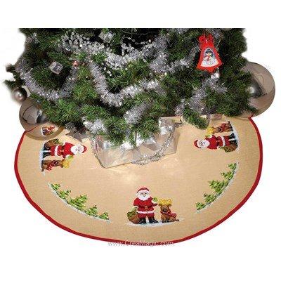 Tapis de sapin de Noël-Père Noël - Vervaco