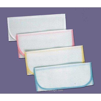 Enveloppe Serviette : bleu pastel-à l'unité à broder au point de croix - Luc Création