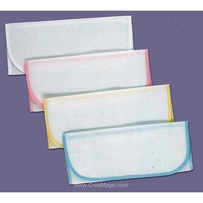 Enveloppe Serviette: rose pastel-à l'unité à broder au point de croix - Luc Création