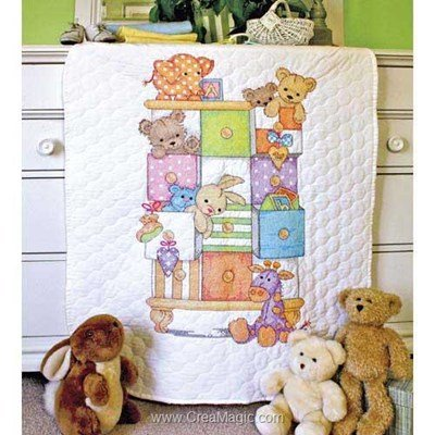 Couverture piquée - Baby Drawers Quilt - Dimensions