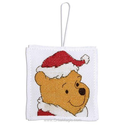 Pooh With Christmas Hat - Anchor