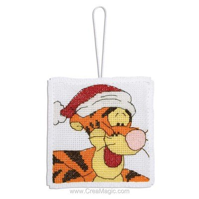 Tigger With Christmas Hat - Anchor